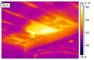 This is a HomeXray of a Ceiling - Taken During a Home Inspection, Using an Infrared (IR) Thermal Imaging Camera