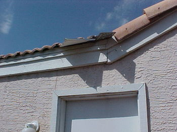 Roof flashings on a tile roof are the most vulnerable areas and are usually where leaks will develop.