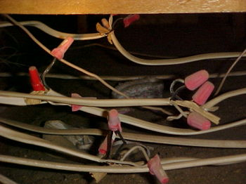 Electrical connections should only be made inside a junction box so as to protect the connections from damage.